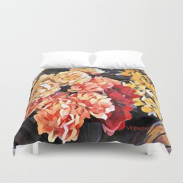 Peaches and Cream Floral Bouquet Duvet Cover