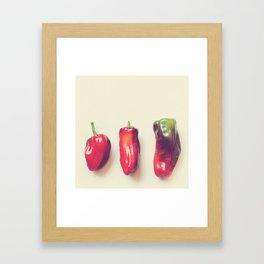peppers photograph. hot Framed Art Print