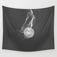 jelly fish Wall Tapestries featuring Jelly Fish by Terri Ellis