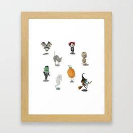 The Spooky Bunch Framed Art Print
