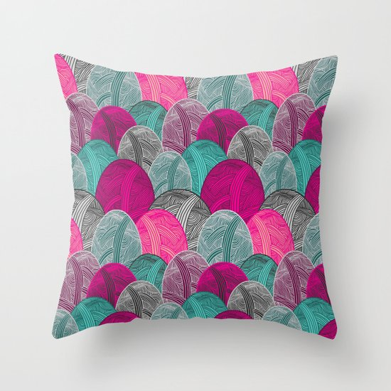 Colour Me Lovely Throw Pillow