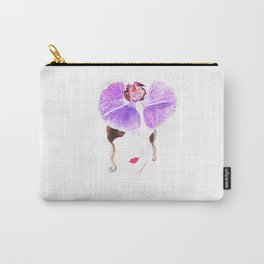 Girl watercolor painting print, Fashion illustration, Girl art, watercolor, Flower art, Orchid Carry-All Pouch