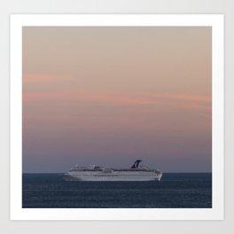 the love boat Art Print