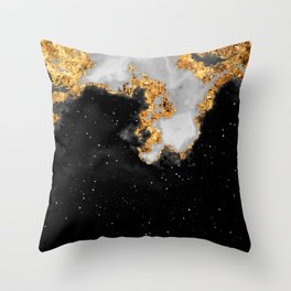 100 Starry Nebulas in Space Black and White 063 (Portrait) Throw Pillow