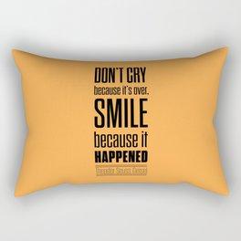 Lab No. 4 - Dr.Seuss smile life Inspirational quote Poster Rectangular Pillow