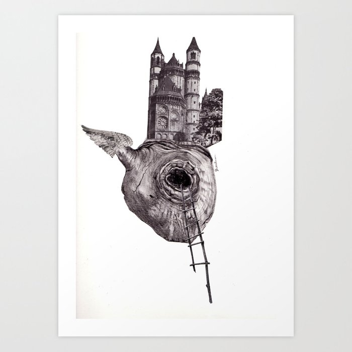 The Heart of The City Art Print