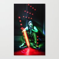 anonymous Canvas Prints featuring Anonymous by Rewolf