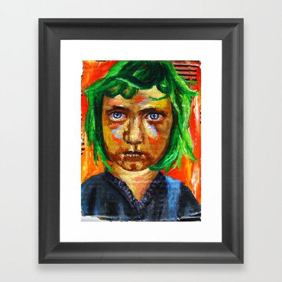 Le Coeur aux Oriflammes  Framed Art Print