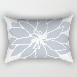 Flower Bluebell Blue on White Rectangular Pillow