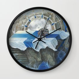 On The Other Side Of Wastelands - Oceanside Wall Clock