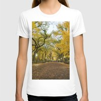 literary T-shirts featuring Central Park New York City by Vivienne Gucwa