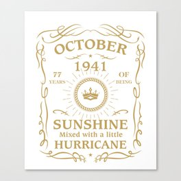 October 1941 Sunshine mixed Hurricane Canvas Print