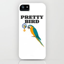 Pretty Bird Macaw Owners iPhone Case