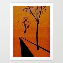 Autumn Path (Day) Art Print