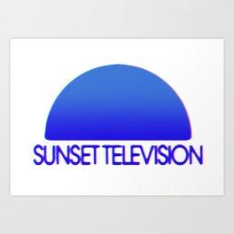 Sunset Television Logo Blue Art Print