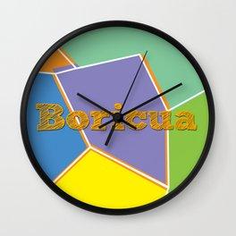 Boricua, Puerto Rico Wall Clock