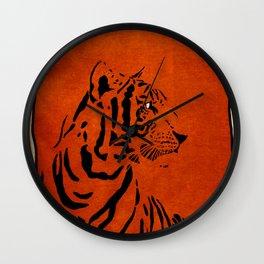 Tiger Stripes -- texture  Wall Clock