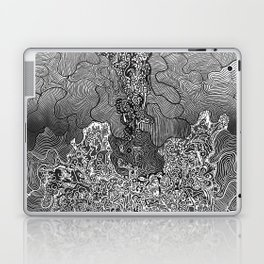 Wild Imagination Illustration (black & white) Laptop & iPad Skin