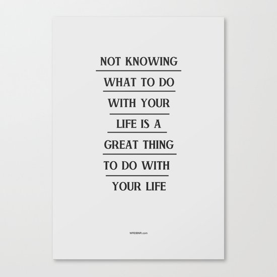 Notknowing Canvas Print