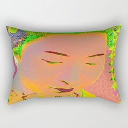 Geisha Pop Art Rectangular Pillow