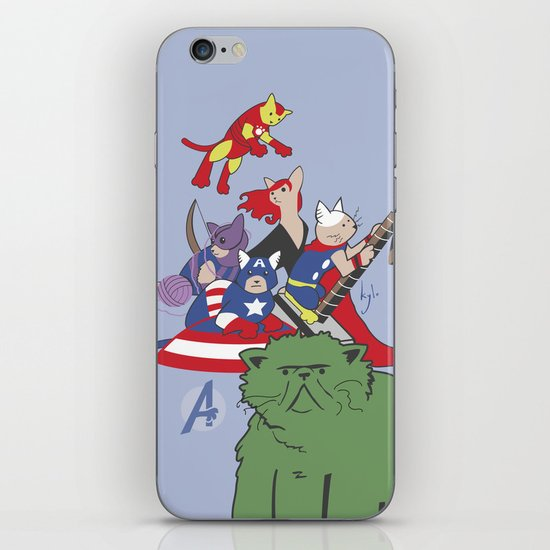 The Catvengers - Earth's Mightiest Kitties iPhone & iPod Skin