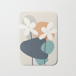 Abstract Flowers 3 Bath Mat