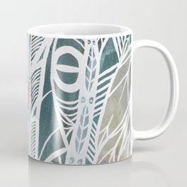 Feathery Design in Emerald Green Coffee Mug