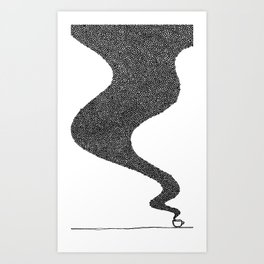 i drink good coffee. Art Print
