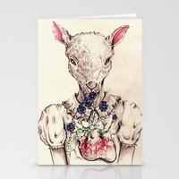 silence of the lambs Stationery Cards featuring Silence of the Lambs by Marie Toh