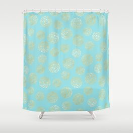 Golden Balls Shower Curtain