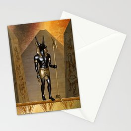 Anubis the egyptian god Stationery Cards