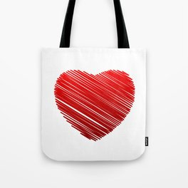 Scribbled heart Tote Bag