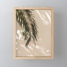 tropical palm leaves vi Framed Mini Art Print