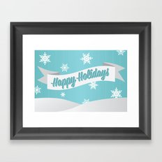 Holiday Snow Framed Art Print