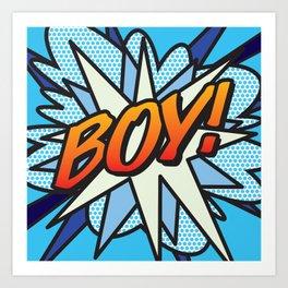 Comic Book BOY! Art Print