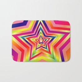 Star Colorful Rainbow Spectrums Bath Mat