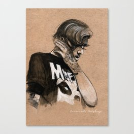Zayn Charcoal sketch Canvas Print