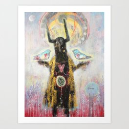 'Hálnes' – Wholeness, healing and holding space for peace within ourselves ... Art Print
