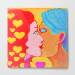 Forms of Love FemaleMale Metal Print
