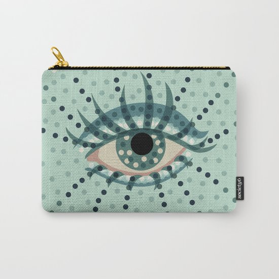 Dots And Abstract Eye Carry-All Pouch