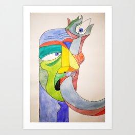 Arm in Eye Art Print