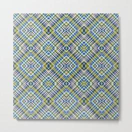 Strix - Colorful Decorative Abstract Art Pattern Metal Print