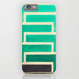 Turquoise Geometric Aztec Pattern iPhone Case