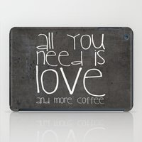 coffee iPad Cases featuring COFFEe by Monika Strigel