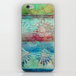 Pastel Seashell Mosaic iPhone Skin