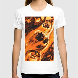 Abstract Gold Fire Paint IV T-shirt