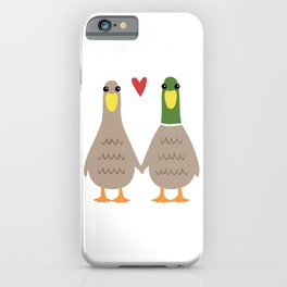 Love Ducks | Cute Couple with Heart iPhone Case