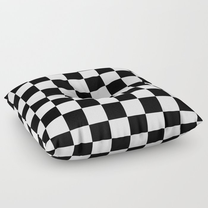 Black White Checkered Pattern Floor Pillow By Lainey1978 Society6