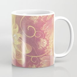 Beautiful Faded Autumn Iris Fractal Flower Coffee Mug