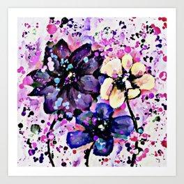 Fun Flowers Art Print